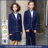 Custom Navy Blue uniforme da escola Blazer