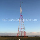 Torre de acero galvanizada Q345b vendida del cedazo del ángulo Telecom de los 55m