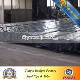 Acero galvanizado tubo de metal Tubería Galvanzied Plaza tubo del hueco