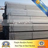 Revestimento de zinco de parede fina Tubo de aço quadrado
