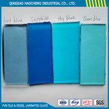 명확한 플로트 유리 색깔 PVB 필름을%s 가진 안전 박판으로 만들어진 유리
