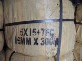 Embalagem coreana de aço galvanizada da corda de fio 6X15+7FC