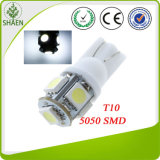 12V indicatore luminoso dell'automobile di bianco 5050 SMD T10 LED