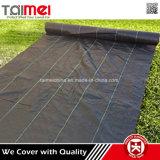 Tissu au sol d'horizontal de couvre-tapis de contrôle de barrière de Weed tissé par pp de jardin de couverture