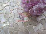 骨の形の真珠色のモザイク・タイル(CFP138)