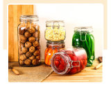 recipientes de vidro do frasco do armazenamento 1400ml/doce da cozinha