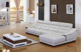 イタリアの革ソファーセット、角のソファー、革ソファーの工場(608)
