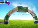 De opblaasbare Lopende Boog met het af:drukken van het EMBLEEM/het opblaasbare begin en beëindigt /inflatable van lijnbogen de poort van de sportboog voor verkoop