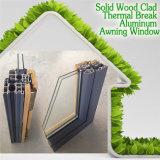 미국 작풍 별장을%s 알루미늄 차일 Windows, 상한 별장을%s 우아한 나무로 되는 코팅 여닫이 창 Windows