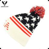 Акриловый шлем Beanie вышивки США картины звезды жаккарда