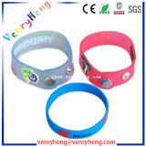 braccialetto su ordinazione del Wristband di gomma del PVC 3D per il regalo