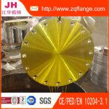 Flange amarela de Fifting da tubulação do aço de carbono B4504 da pintura