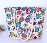 Saco de ombro florais frescos pequena praia bolsas de Cordas de cânhamo