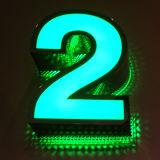 Lettre d'acier inoxydable et Afficheur LED polychrome en tant que publicité du Signage