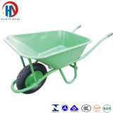Wheelbarrow verde da bandeja