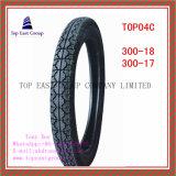 Größe 300-18, Reifen des Qualität 300-17 ISO-Nylonmotorrad-6pr