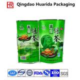 Saco de empacotamento personalizado do chá plástico lateral da folha de alumínio do reforço com impressão colorida