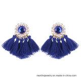 新しい普及した模造宝石類8つのカラー方法ふさのイヤリング