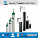 Cilindro de gás médico portátil pequeno do oxigênio da liga de alumínio de DOT-3al