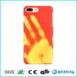 Caisse changeante de téléphone de couleur sensible à la chaleur pour l'iPhone 8