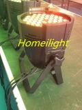 lampada impermeabile di PARITÀ del raggio luminoso della fase della lampada della discoteca dell'indicatore luminoso RGBW di PARITÀ di 3wx54 LED