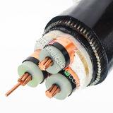 câble blindé en acier isolé par XLPE de cuivre de conducteur de 8.7/10kv 3X240 (la SWA)