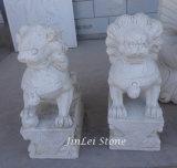 Natürliche Steinschnitzende Statue geschnitzte Garten-Marmorskulptur für Dekoration