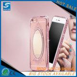 Point de droit transparent de galvanoplastie pour l'iPhone 7 avec la surface de miroir