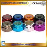 Aluminium anodisierte Hex Gegenmuttern, farbiges Nuts AluminiumNylock