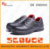 Zapatos de seguridad de marca de fábrica del estilo de la manera, zapatos negros de la seguridad del martillo