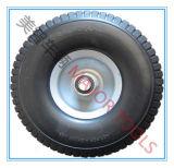 10X3.00-6 오프셋 허브 PU 거품 타이어 수레 트롤리 바퀴