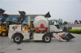 auto 2.0cbm que carrega o misturador concreto com a rotação do cilindro