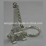 3D Эйфелевой Башни олова металлической цепочке для ключей