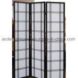 Sezioni cinesi semplici normali tipiche di stile giapponese 3 non tessute/schermo dello Shoji & divisori pieganti di legno