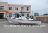 Liya 7.6m作業輸送のガラス繊維作業ボートの高品質釣ヨット