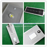 China Fabricante Integrado Bateria Li-ion Solar Luz Rua 15 watts com Sensor de movimento