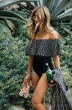 2017 gekopierter Krause-Dame-einteiliger Bikini My7023