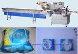 Macchina per l'imballaggio delle merci di flusso orizzontale sanitario automatico di Napking della fabbrica della Cina