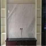 イタリアの白いカラーラの大理石の磨かれた床タイル