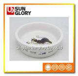 Ciotola di ceramica dell'animale domestico della decalcomania di Gyp011