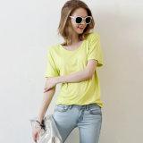T-shirt du coton des femmes avec la bonne qualité