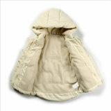 Revestimento acolchoado algodão com as luvas longas para o vestuário das crianças