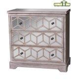 Gabinete de armazenamento de madeira do acento da mobília da HOME da caixa do espelho do abeto
