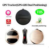 Perseguidor personal vendedor caliente del GPS con el botón el SOS (T8S)