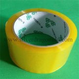Cintas amarillentas del embalaje de BOPP con la adherencia fuerte