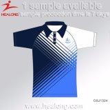 Healong knallen oben Kleid-Sublimation-Polyester-Polo-Hemd 100% für Verkauf
