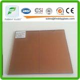 euro glace r3fléchissante en bronze de 10mm/glace r3fléchissante teintée en verre en verre/construction/guichet