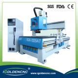 목제 새기는 기계 자동적인 가격, 자동 공구 변경자 기계 CNC 3D