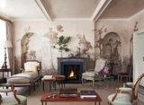 Neige décorative à la maison imperméable à l'eau d'impression de Digitals de tissu en tissu de mur des graines de Plutus