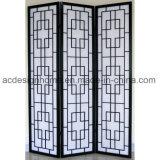 Belle 3 sezioni cinesi popolari di stile giapponese non tessute/schermo dello Shoji & divisori pieganti di legno
